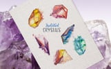 Crystals Watercolor Lilac Color png Illustration