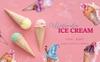 Appetizing Ice Cream Watercolor png Illustration Big Screenshot