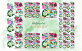 """Bouquet Pink """"Tenderness""""  Watercolor Png Illustration"""