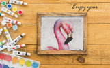 Flamingo Watercolor Png Illustration