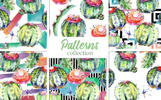 """Ilustrace """"Cacti Watercolor Png"""""""