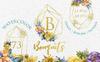 Bouquets Yellow Watercolor Png Illustration Big Screenshot