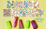 Ice Cream Fruit Watercolor Png Illustration