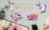 Bouquet Super Duper Watercolor png Illustration