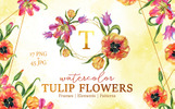 "Иллюстрация ""Super Tulip Red Flowers Watercolor Png"""