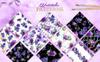 Bouquets Of Purple Flowers Watercolor PNG Illustration Big Screenshot