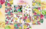 Hydrangeas Yellow-Pink Watercolor png Illustration