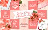 Living Coral Attributes Set Watercolor Png Illustration