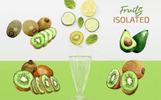 Kiwi Green Fresh Watercolor Png Illustration