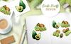Kiwi Green Fresh Watercolor Png Illustration Big Screenshot