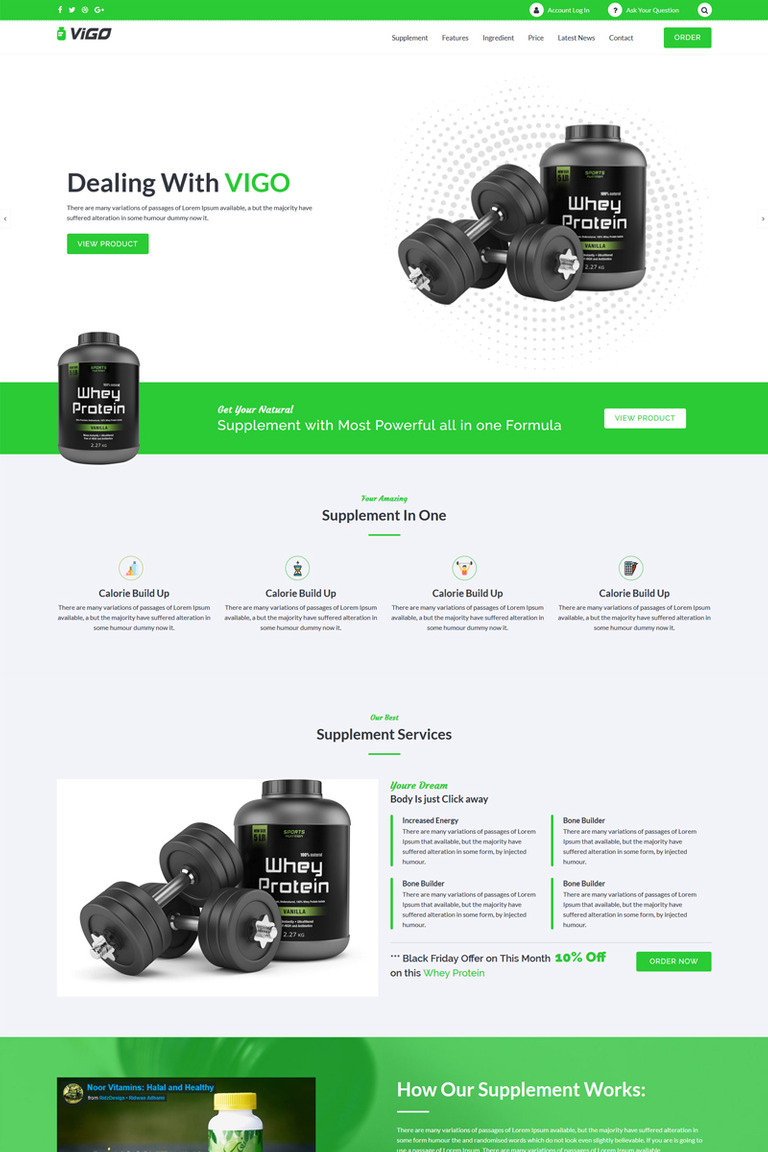 VIGO - Single Product Supplement WordPress Theme