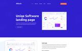 Alltuch - Software Landing Page PSD Template