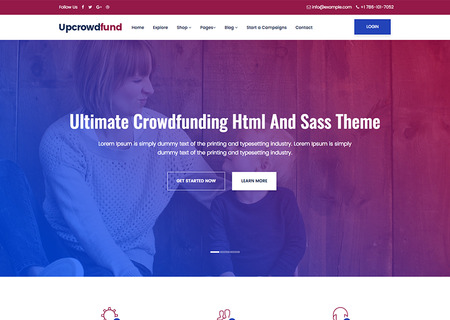 Upcrowdfund- Html And Sass Crowdfunding