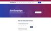 Plantilla Web para Sitio de Caridad Captura de Pantalla Grande
