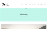 """Orta - Photography & Personal Blog"" thème WordPress adaptatif"