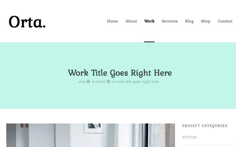 Orta - Photography & Personal Blog WordPress Theme #69175