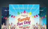 """Family Fun Day Flyer"" Bedrijfsidentiteit template"