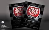 Auto Racing Flyer Corporate Identity Template