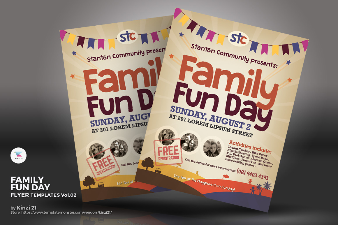 Family Fun Day Flyer Corporate Identity Template - Fun day flyer template free