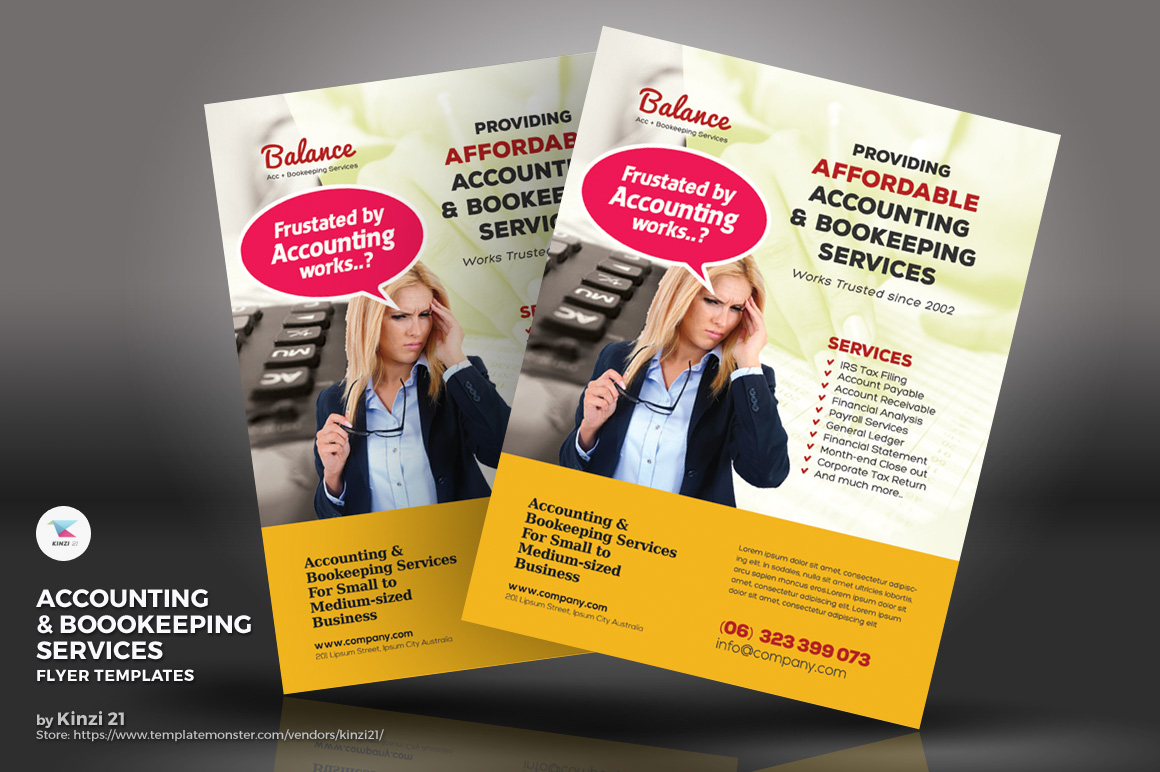 Accounting Bookkeeping Services Flyers Corporate Identity Template