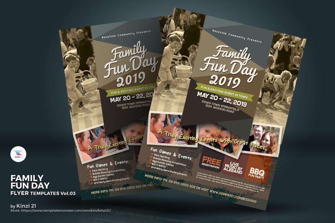 family fun day flyer vol 03 corporate identity template 70340