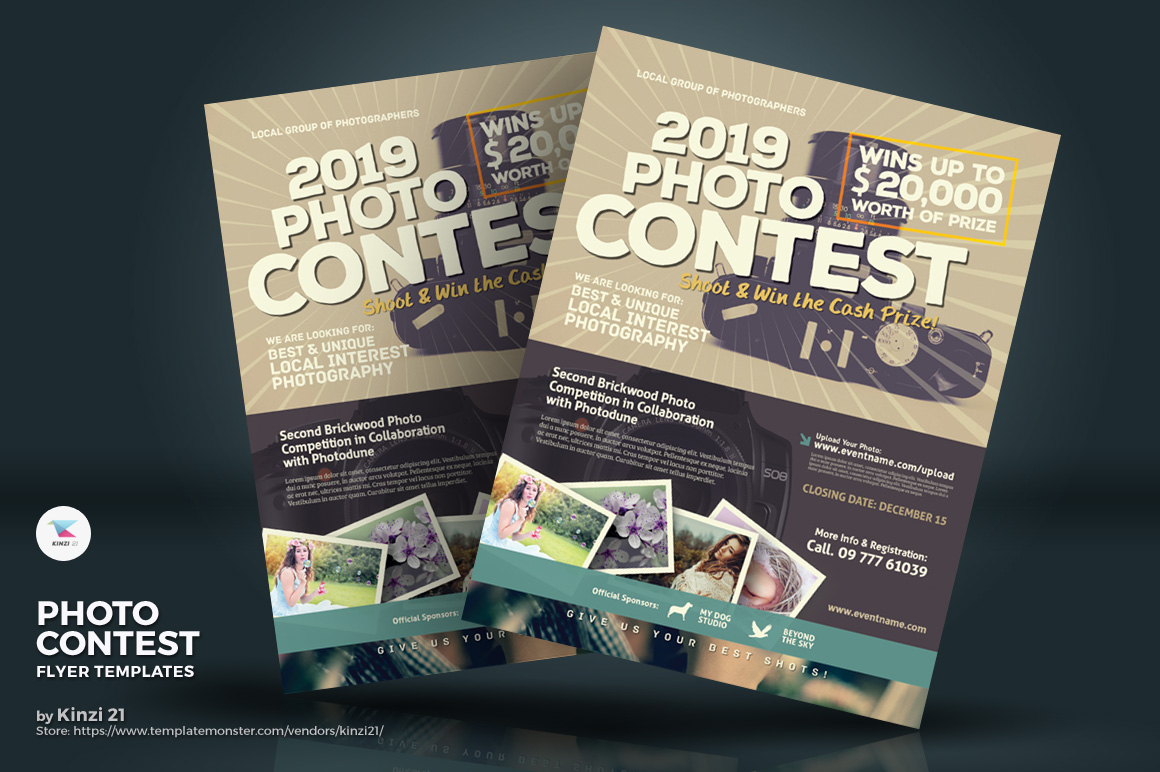 Photo Contest Flyers Corporate Identity Template 70807