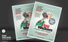 """""""Dog Walker Flyers"""" Bedrijfsidentiteit template Groot  Screenshot"""