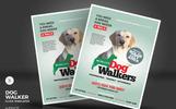 """""""Dog Walker Flyers"""" Bedrijfsidentiteit template"""