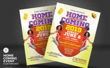 Homecoming Event Flyers Corporate Identity Template