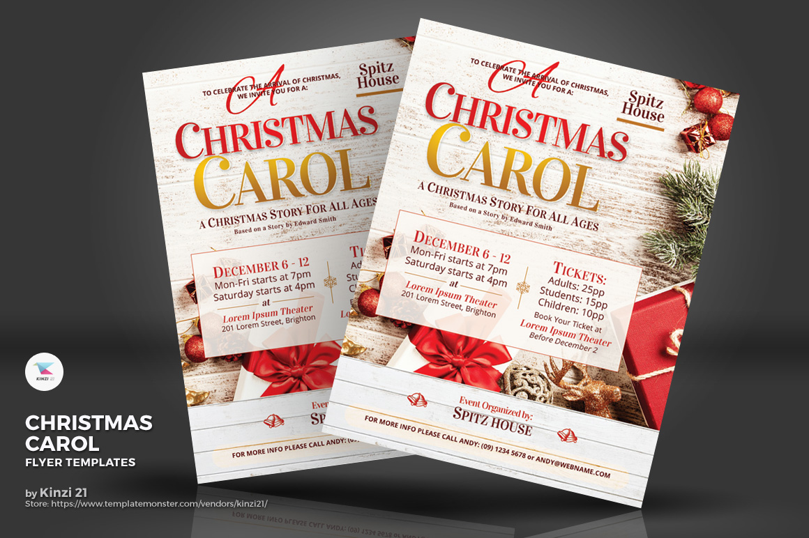 Christmas Carol Flyers Corporate Identity Template 73871