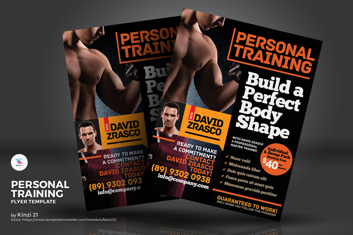 personal training flyer corporate identity template 74206