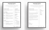 Martien White - Professional Resume Template