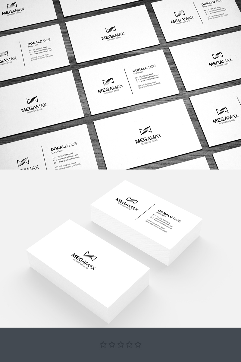 Black & White Minimal Business Card Corporate Identity Template #68080