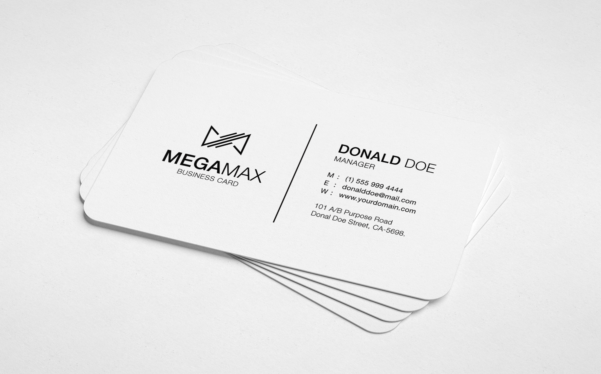 Black white minimal business card corporate identity template 68080 black white minimal business card corporate identity template big screenshot colourmoves Image collections