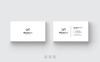 Black & White Minimal Business Card Corporate Identity Template Big Screenshot