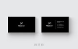Black & White Minimal Business Card Corporate Identity Template