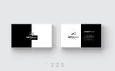 Black & White Minimal Business Card Corporate Identity Template