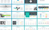 Plantilla PowerPoint para Sitio de Diseño Captura de Pantalla Grande