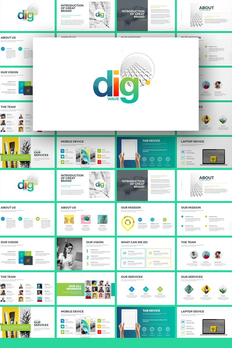 Plantilla PowerPoint #71594 para Sitio de Diseño