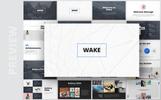 """PowerPoint Vorlage namens """"Wake- Modern & Stylist Presentation"""""""