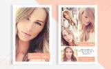 """Unternehmensidentität Vorlage namens """"Sienna Taber - Modeling Comp Card"""""""