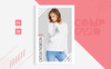 Caitlin Thomson - Fashion Model comp card Template Corporate Identity Template Big Screenshot