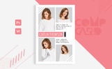 Caitlin Thomson - Fashion Model comp card Template Corporate Identity Template