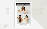 Model Comp Card Corporate Identity Template