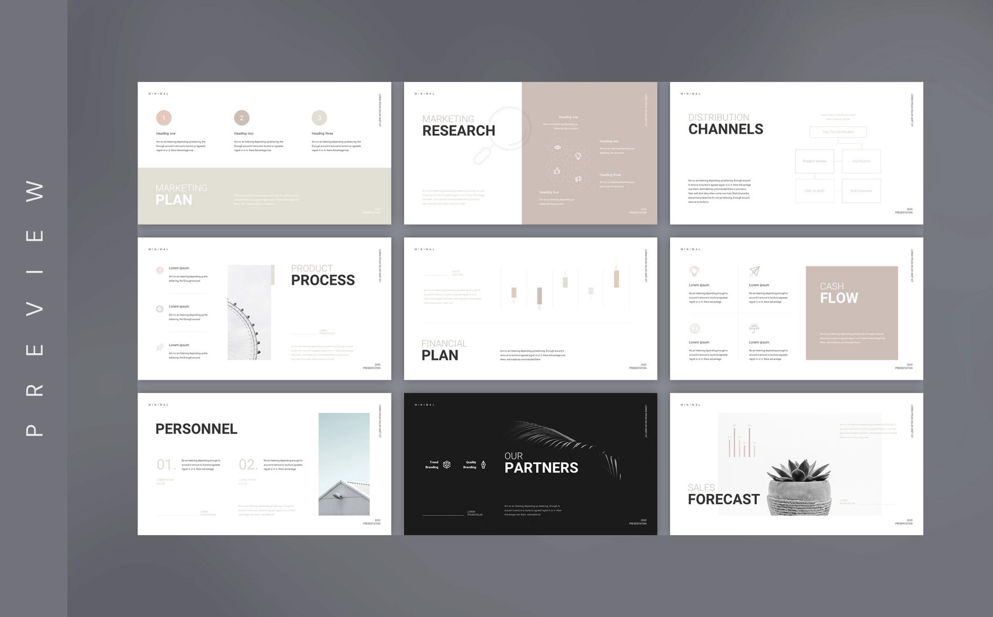 Scholar Business Plan Presentation PowerPoint Template