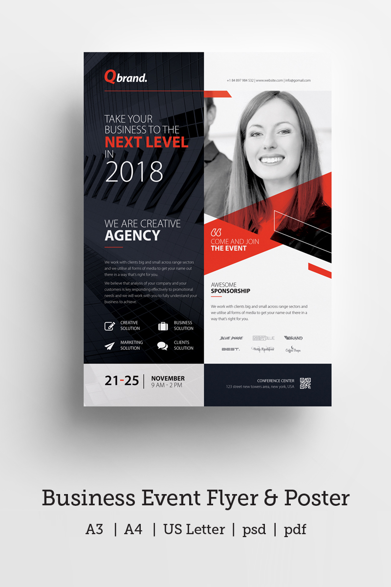 business event  conference flyer  u0026 poster corporate
