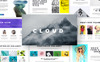 Cloud Creative & Corporate Presentation Keynote Template En stor skärmdump