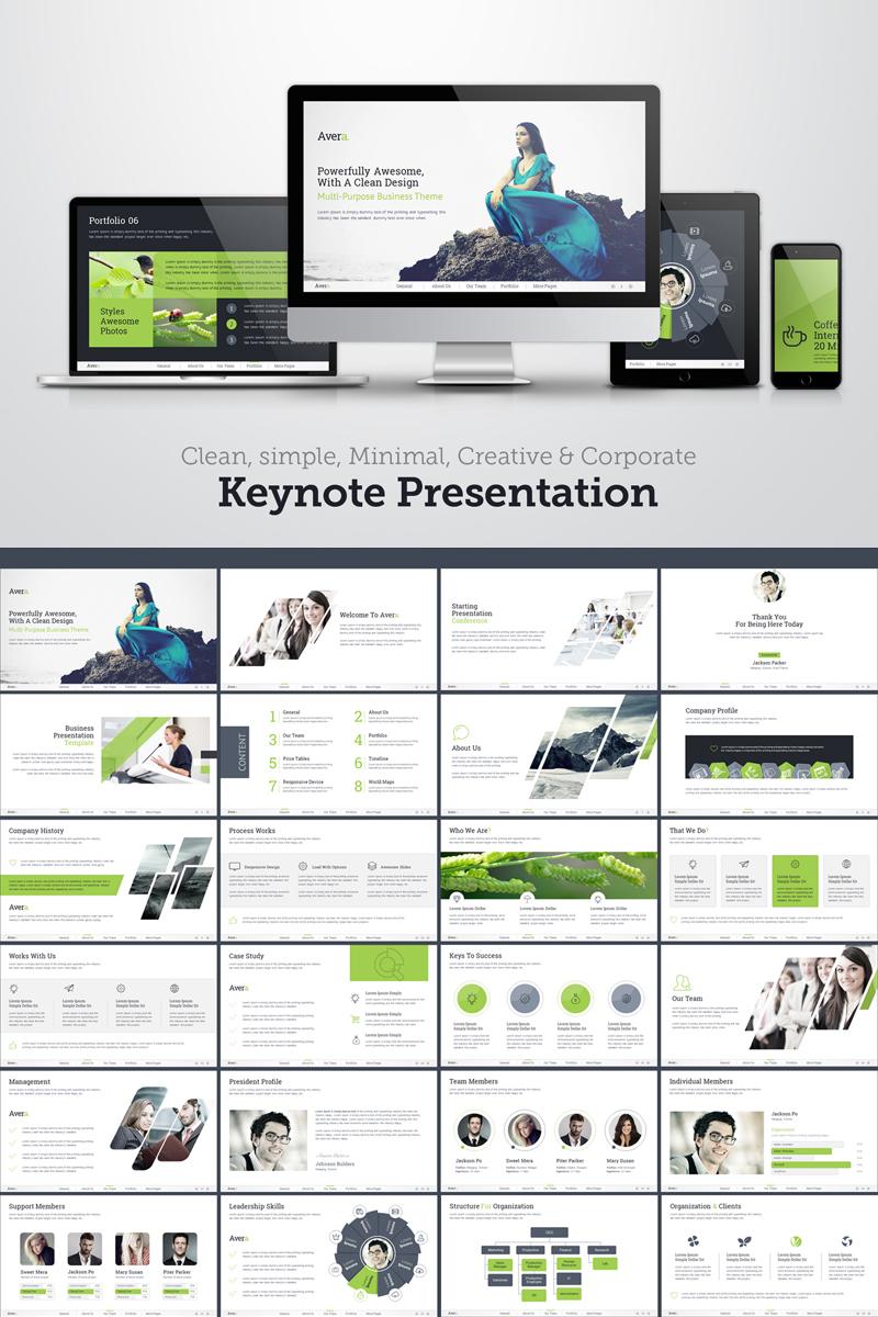 Plantilla Keynote #69607 para Sitio de Agencias de publicidad