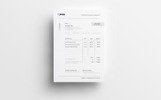 Simple Clean Minimal Invoice Corporate Identity Template