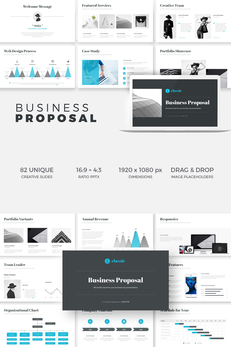business proposal powerpoint template 74901